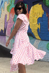 Polka Dot Riviera Dress M