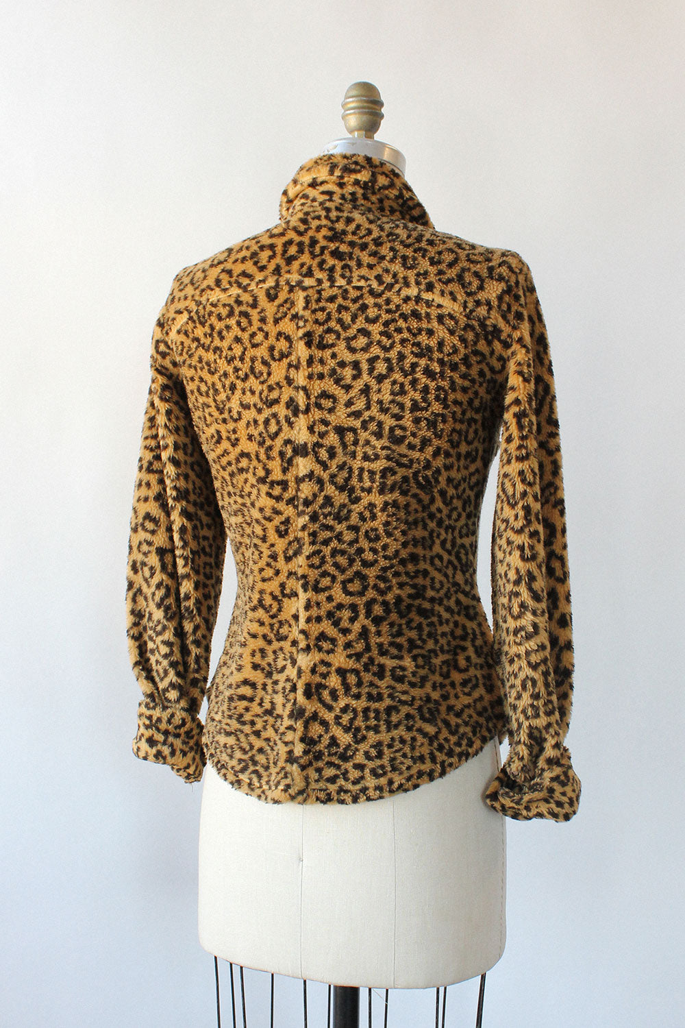 Plush Leopard Shirt XS-M