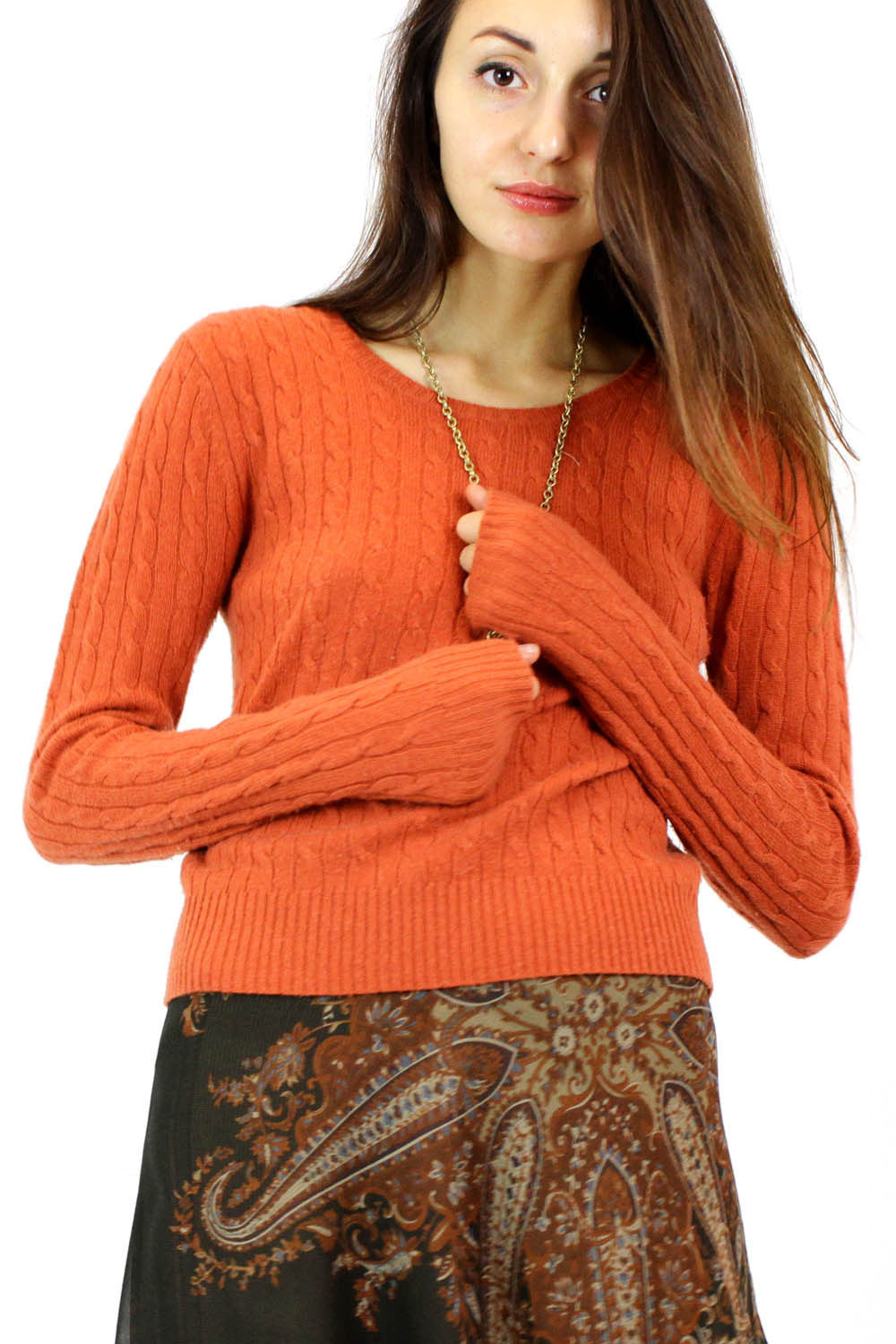 orange cashmere sweater