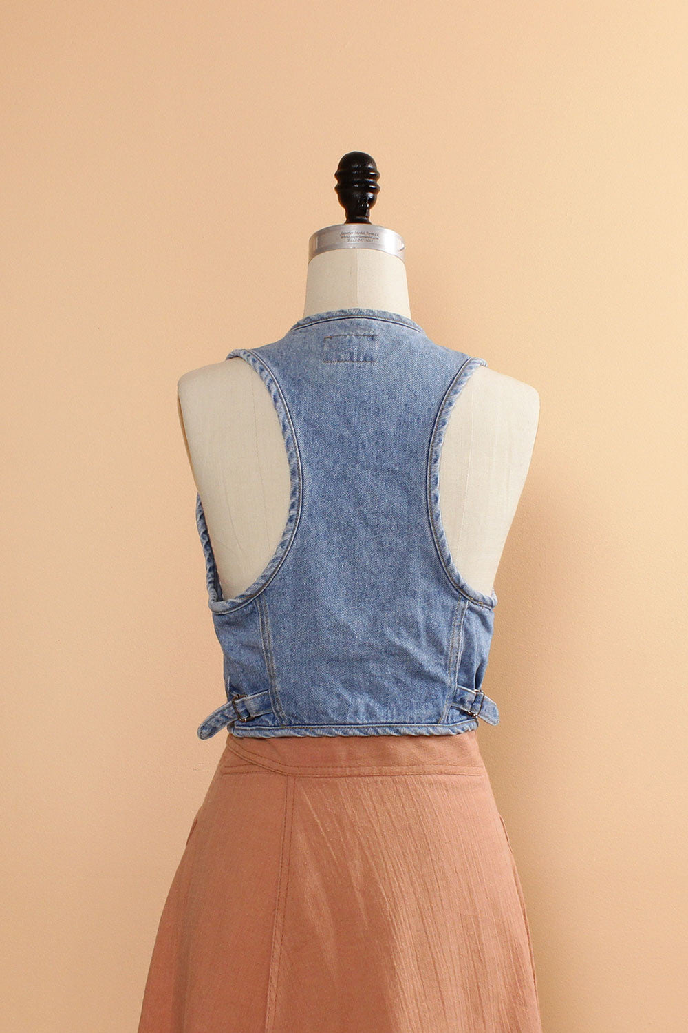 Cropped Denim Vest S/M