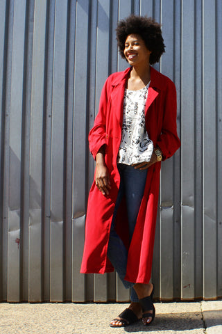 Carmen Sandiego Red Trench S/M
