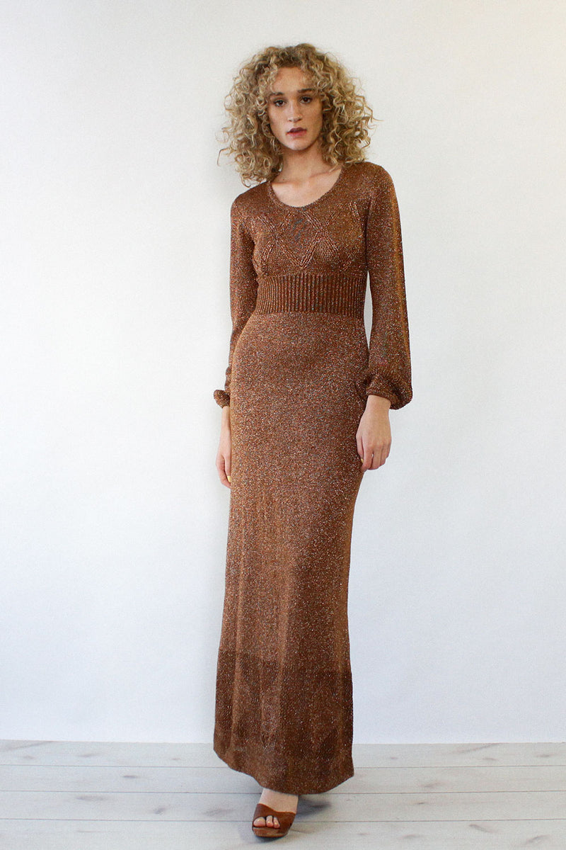 Bronze Wenjilli Maxi Dress S