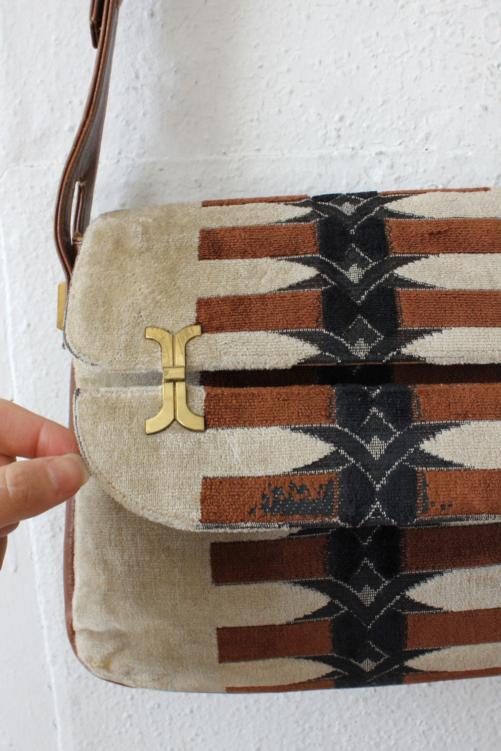 Deco 70s Chenille Purse