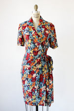 Adrianna Silk Floral Wrap Dress S/M