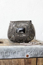 Filigree Metal Box Purse