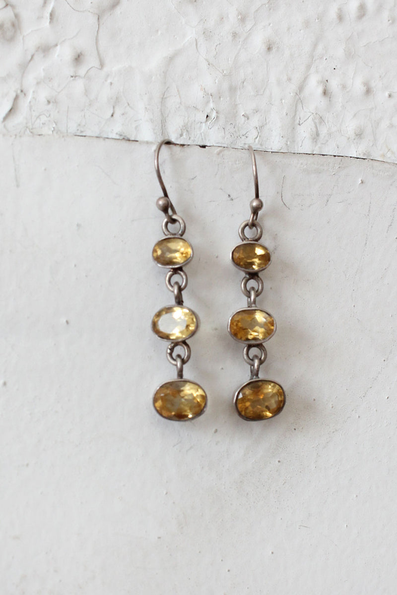 Citrine Tier Drop Earrings