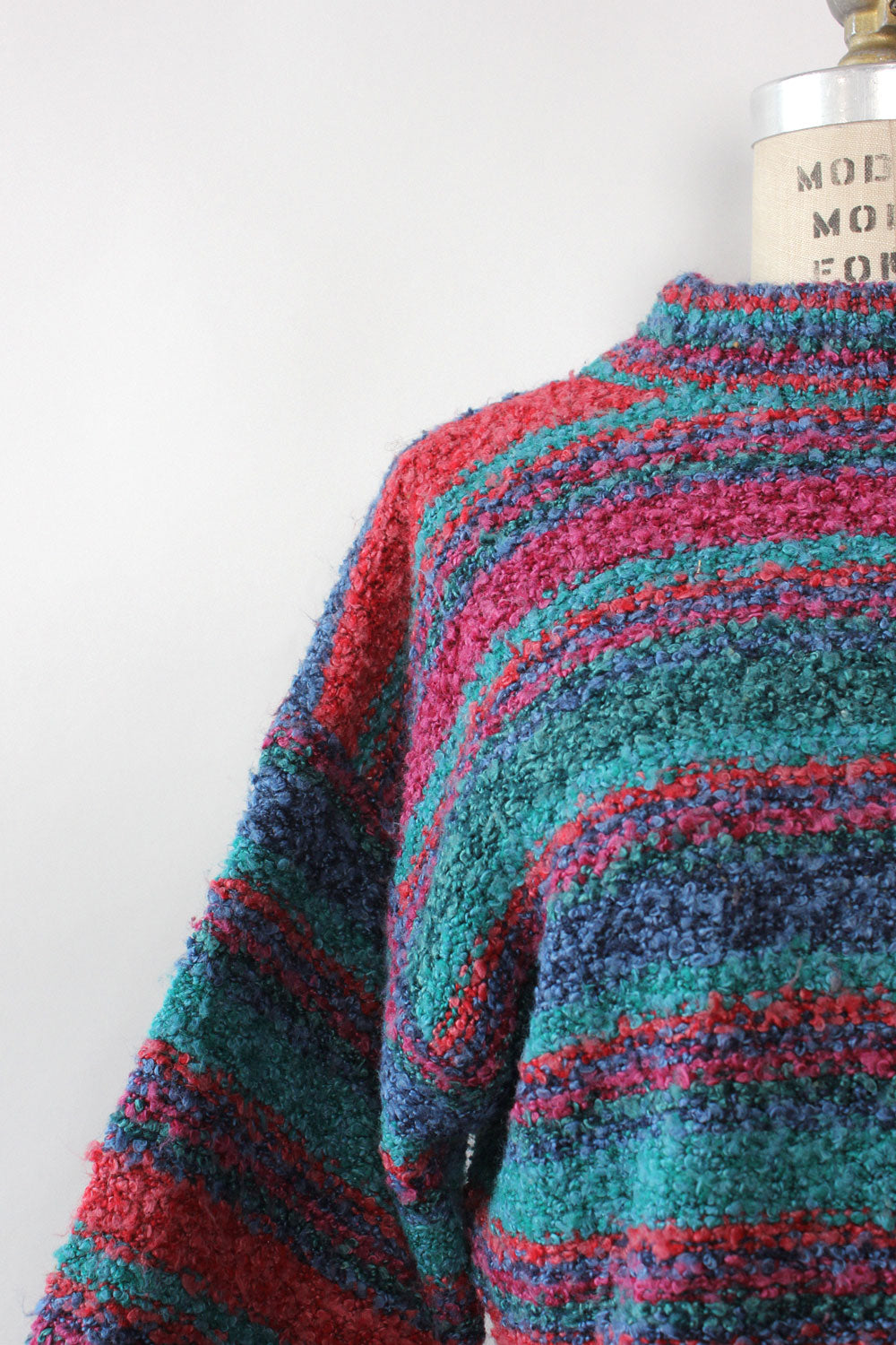 Bouclé Striped Sweater S-L