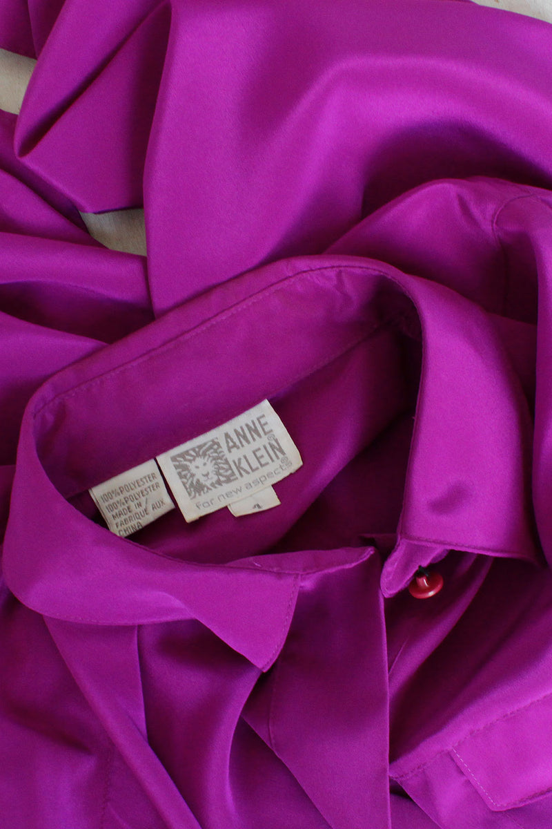 Anne Klein Purple Blouse S