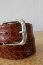 Ralph Lauren Sterling Alligator Belt