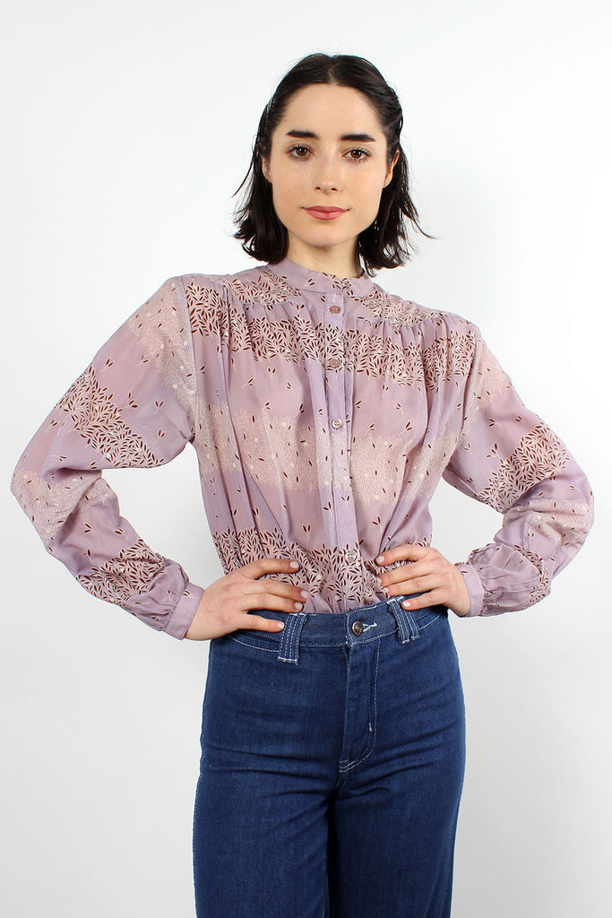 Orchid Peasant Blouse S/M