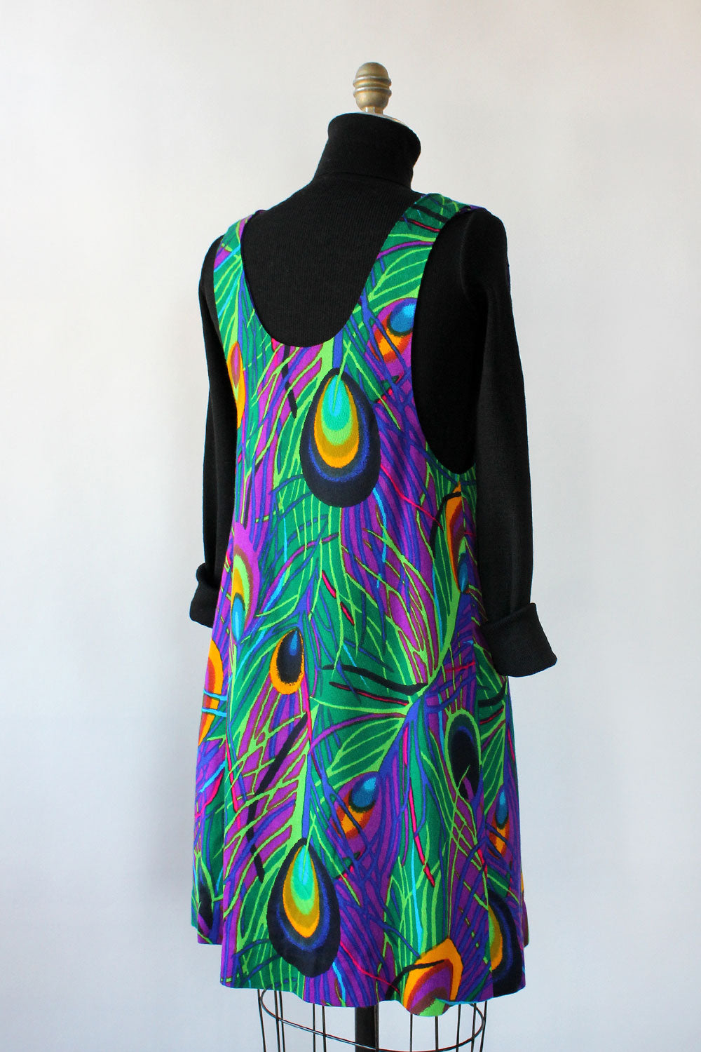 Peacock Scoop Jumper Dress S/M