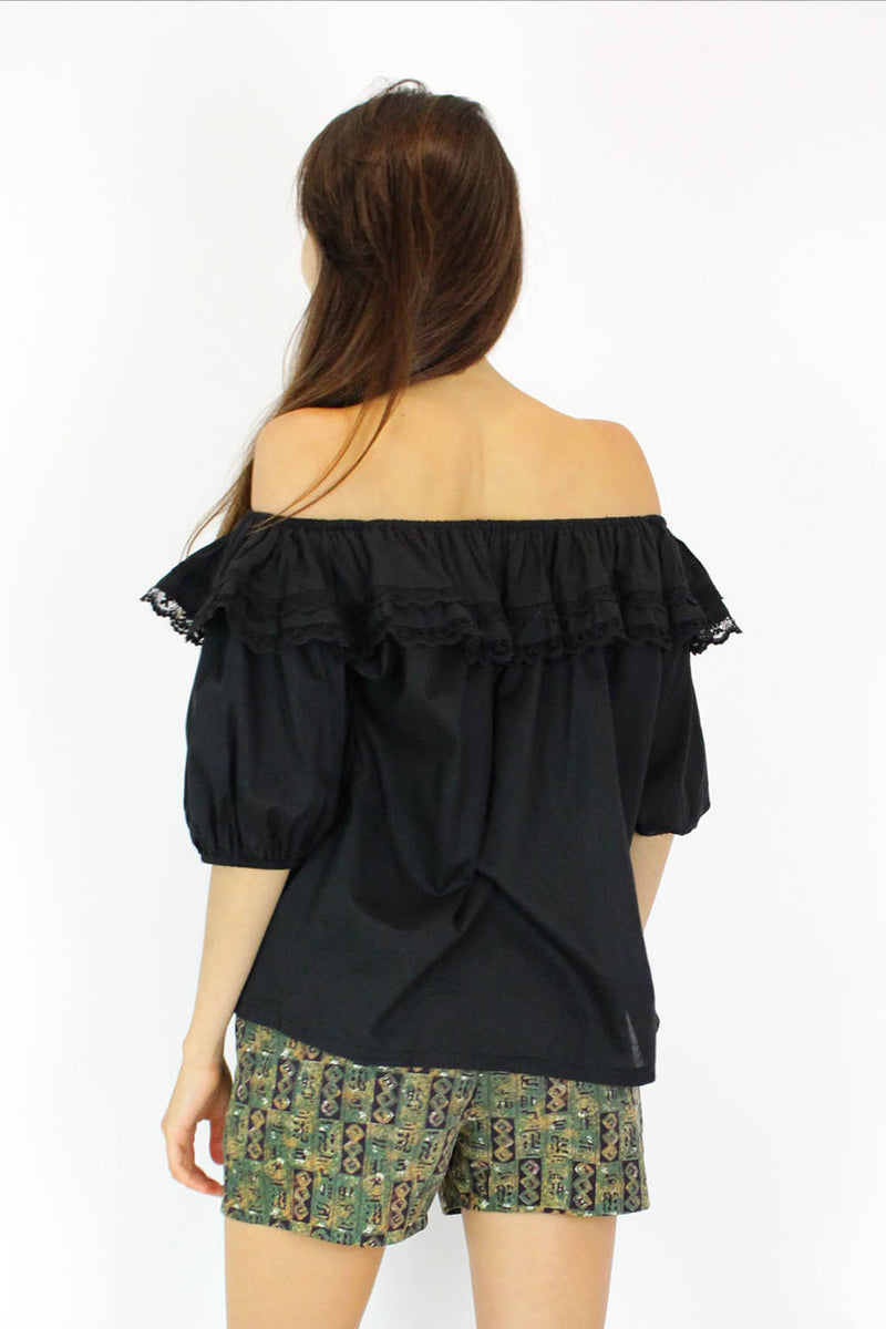 Spanish Tiered Off Shoulder Top