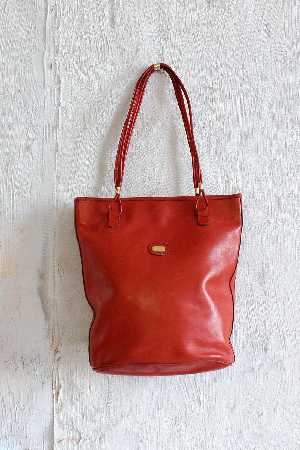 Vermillion 70s Leather Tote