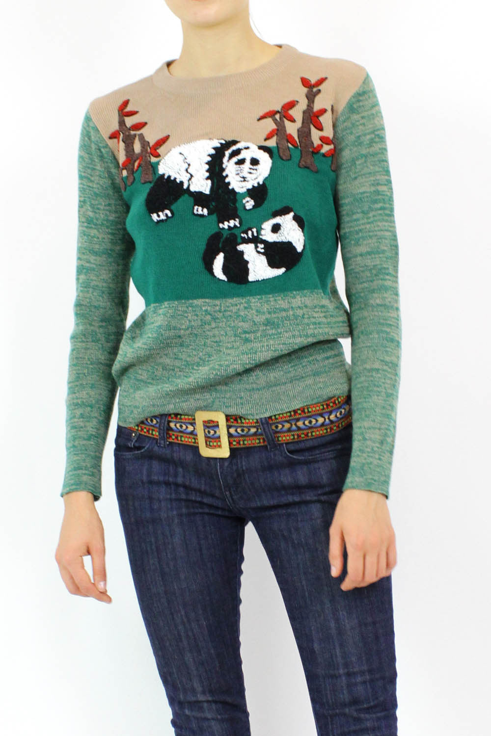 vintage panda kawaii sweater
