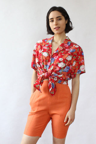 French Buttondown Pencil Skirt XS