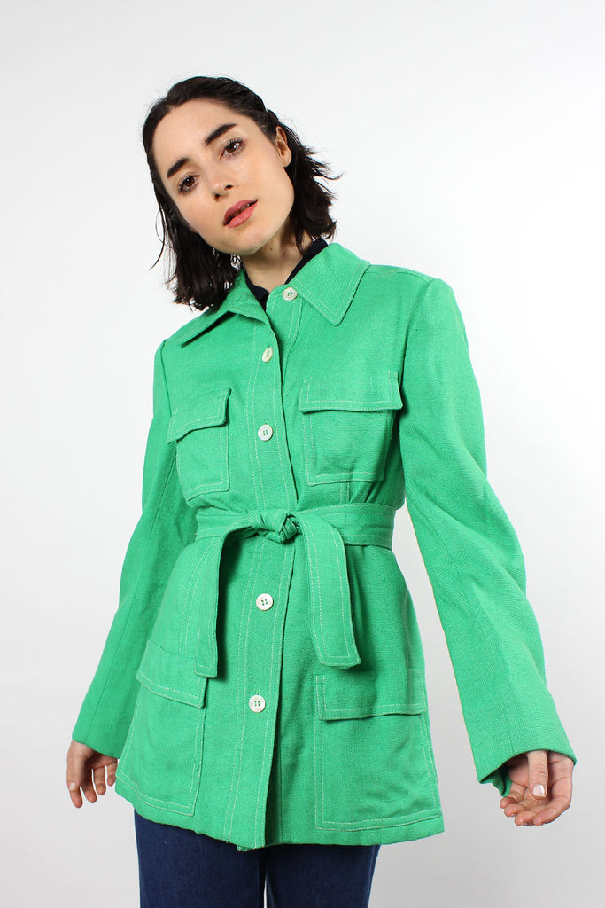 Grass Green Safari Jacket M
