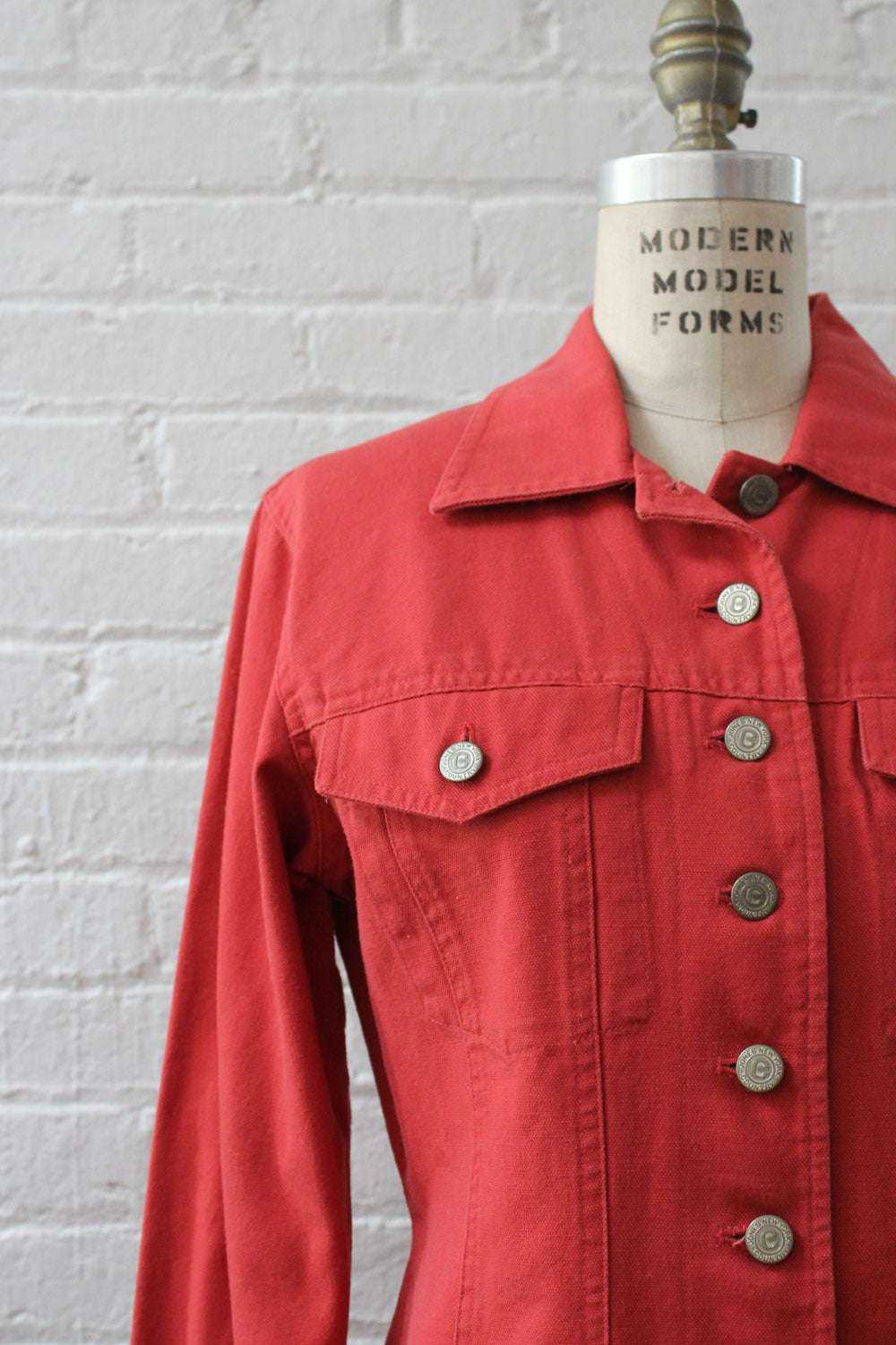Cranberry Denim Rider Jacket S/M