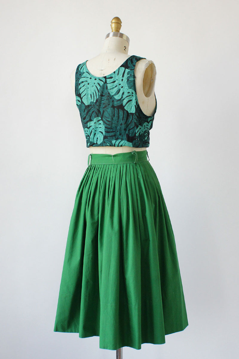Grass Green Pleated Skirt XS/S