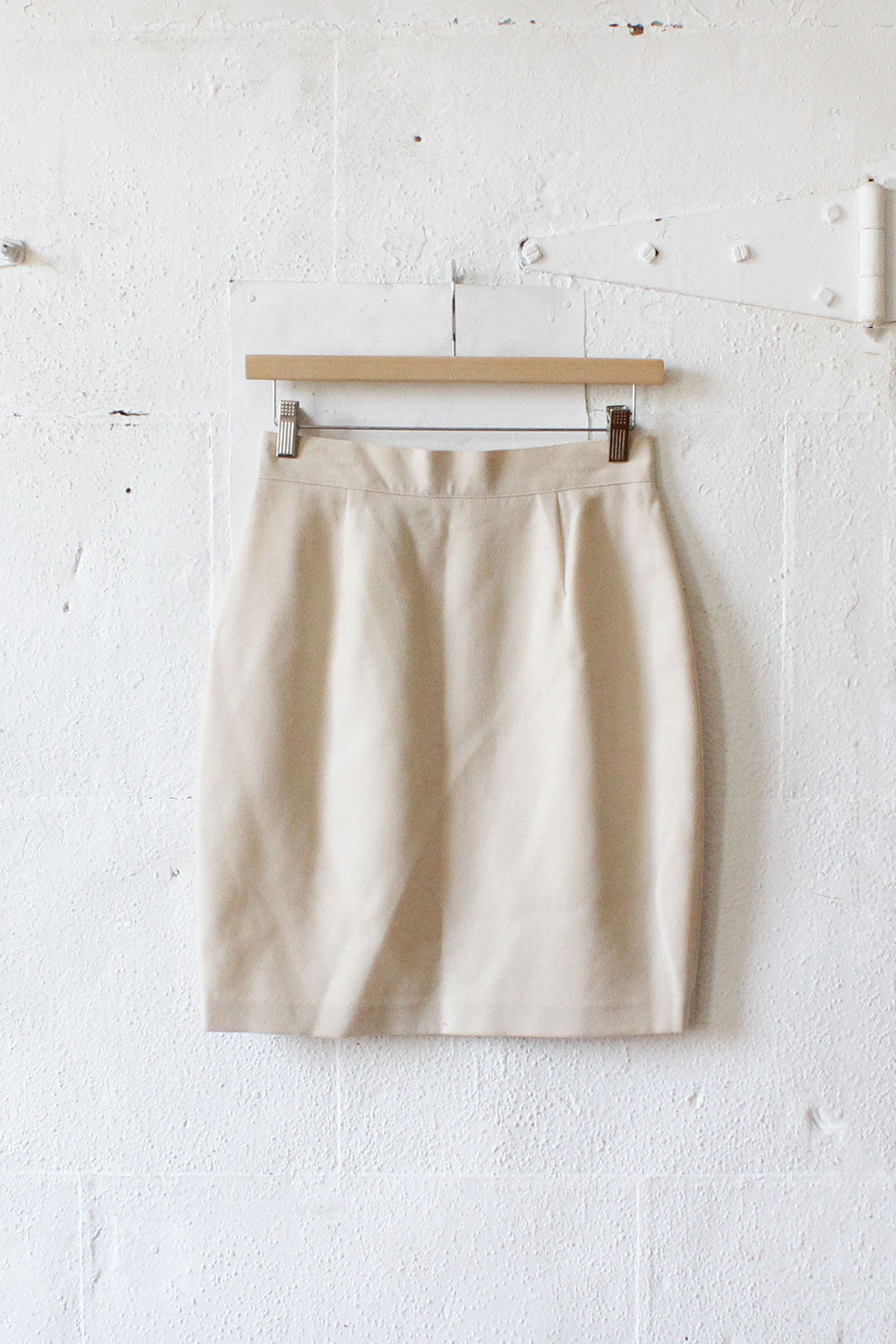 Benetton Ivory Wool Pencil Skirt S