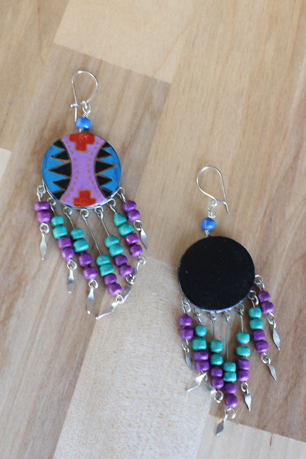 Jeweled Fringe Southwest Earrings