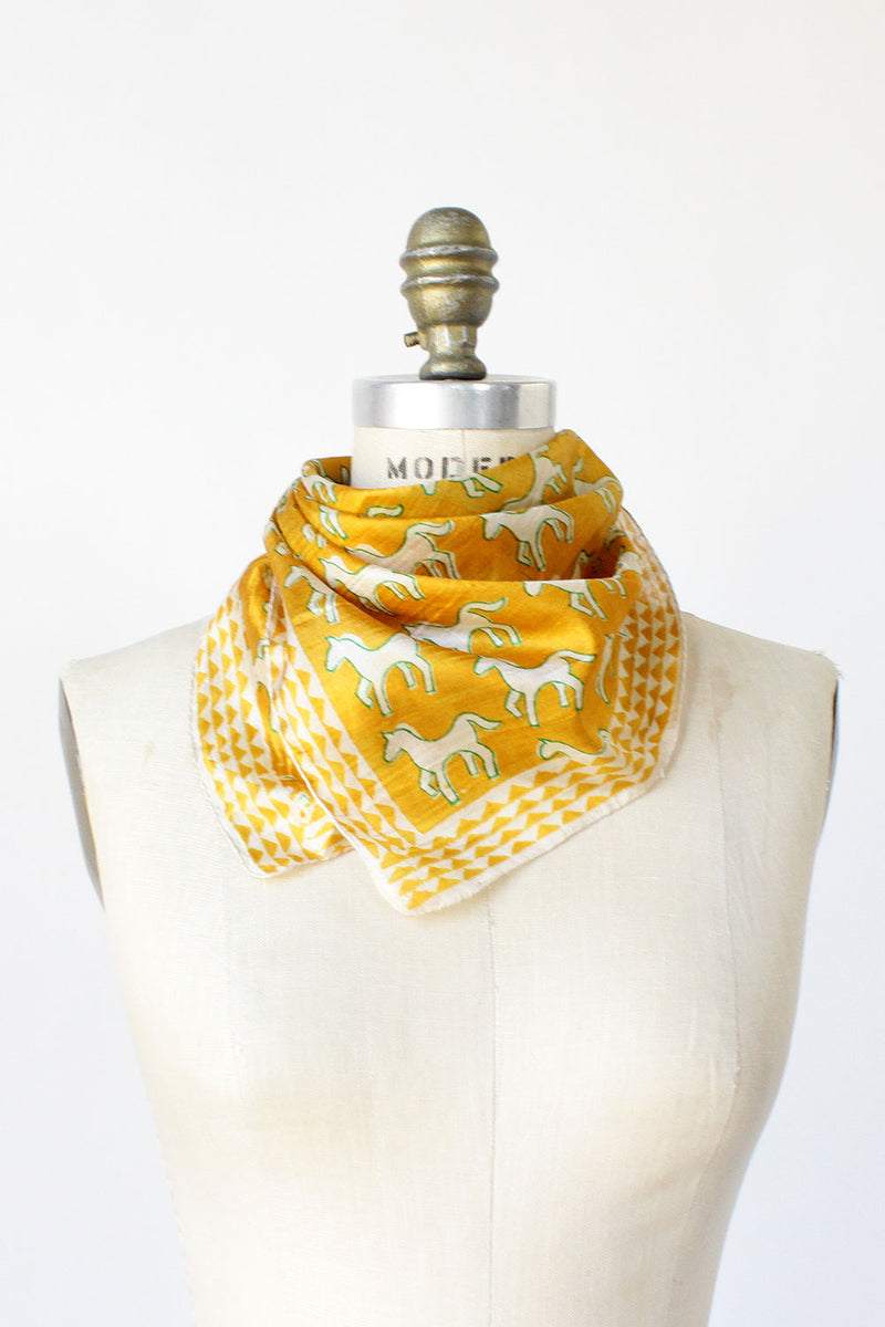Merry Gold Horse Scarf