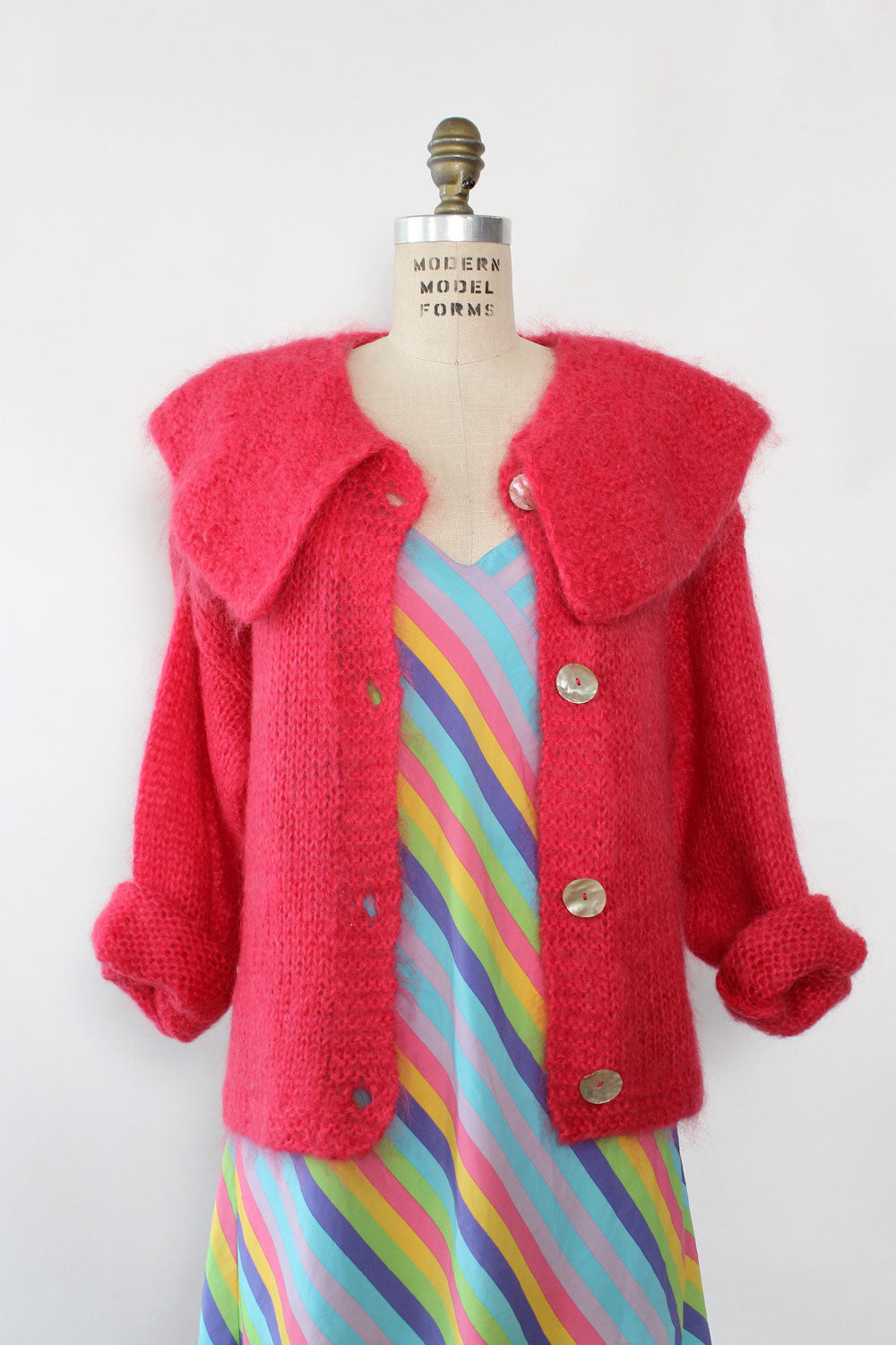 Chelsea Magenta Mohair Sweater S-L