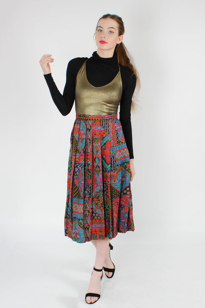Stained Glass Print Skirt S/M