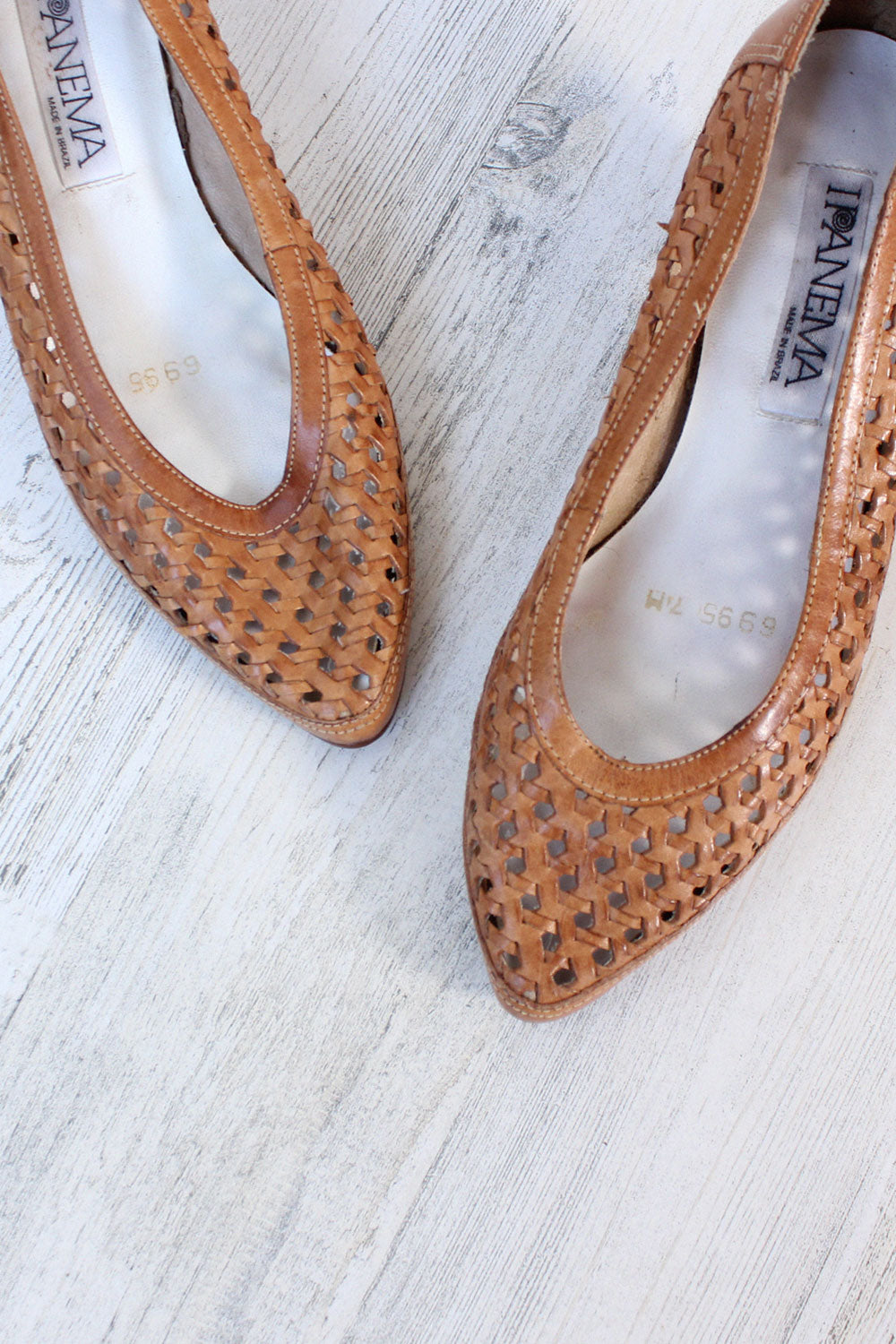Ipanema Woven Leather Heels 7