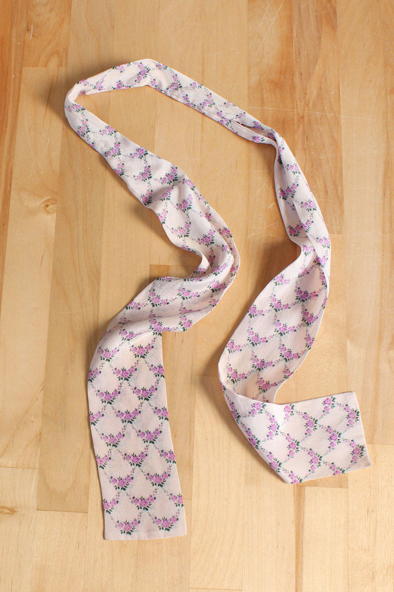 Iris Rose Lattice Silk Tie