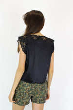 Satin Lace Boxy Top S/M