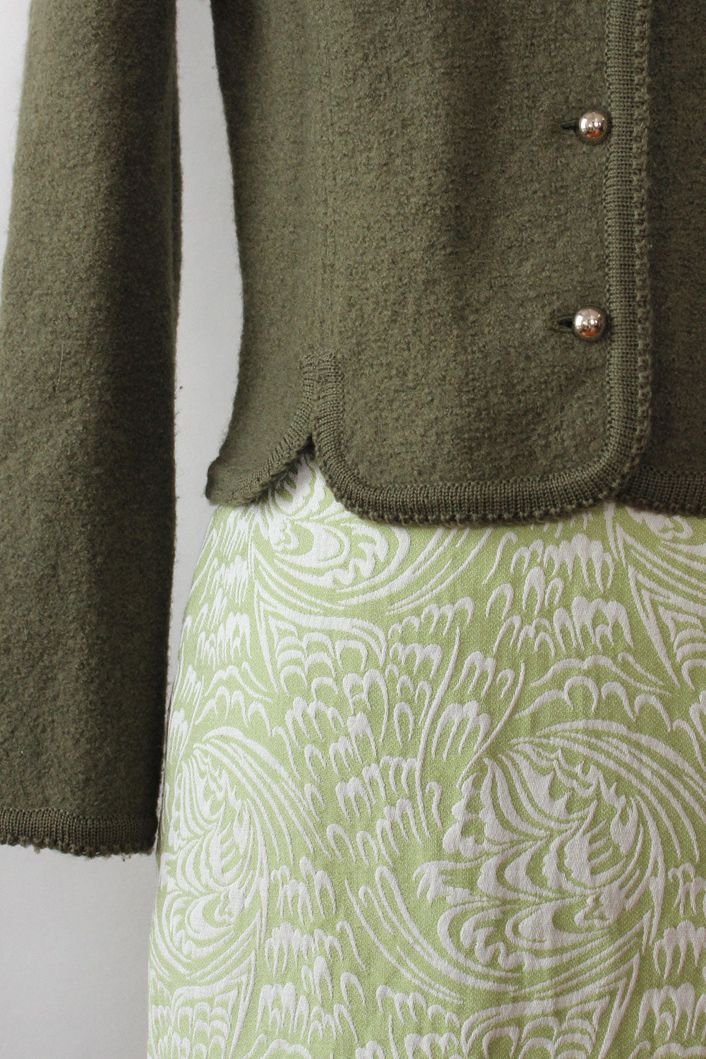 Moss Wool Sweater-Jacket XS/S