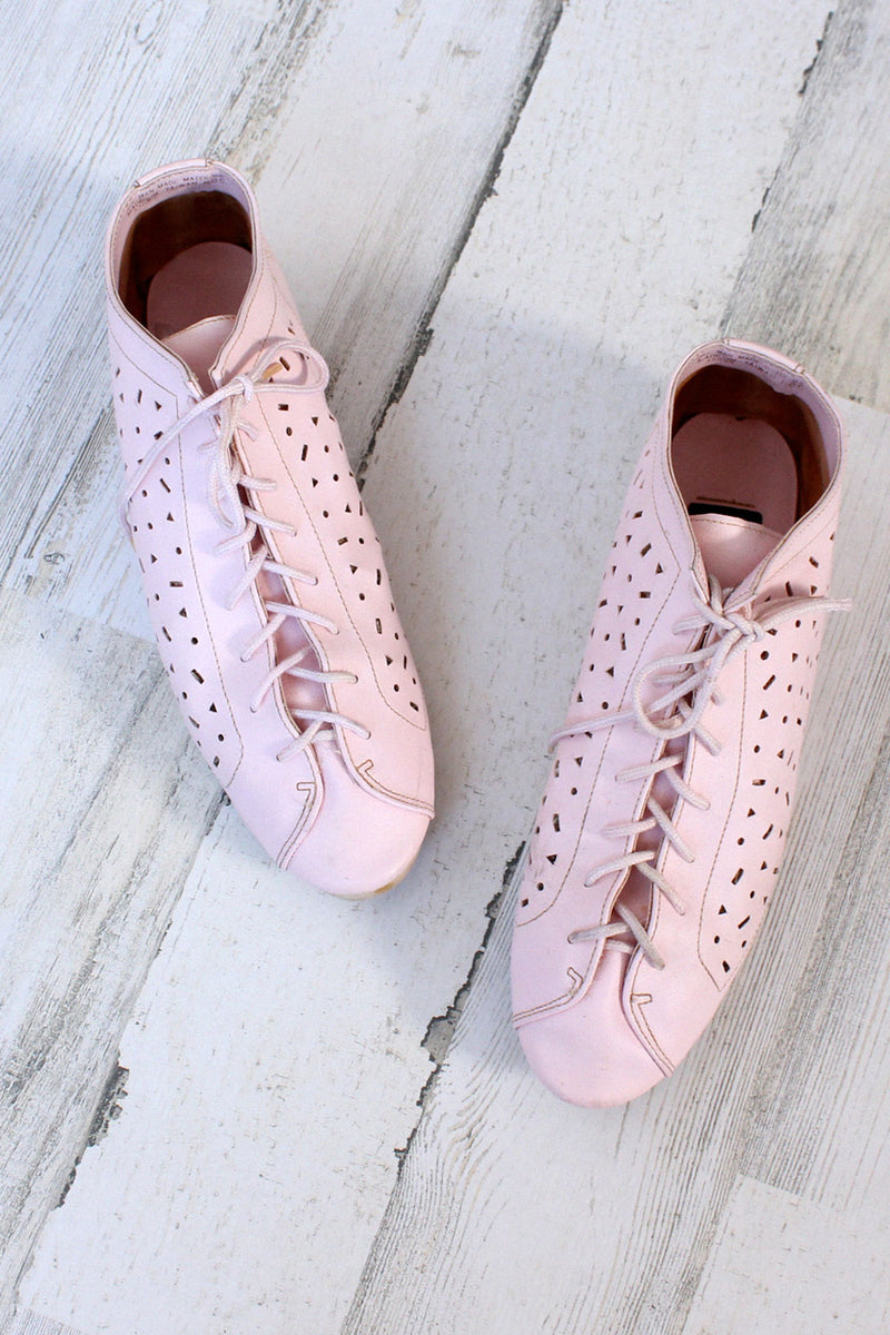 Pastel Pink Cutout Sneakers 8