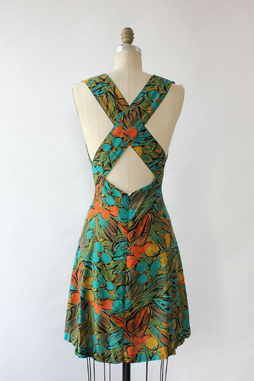 Teal Tropics Sundress M