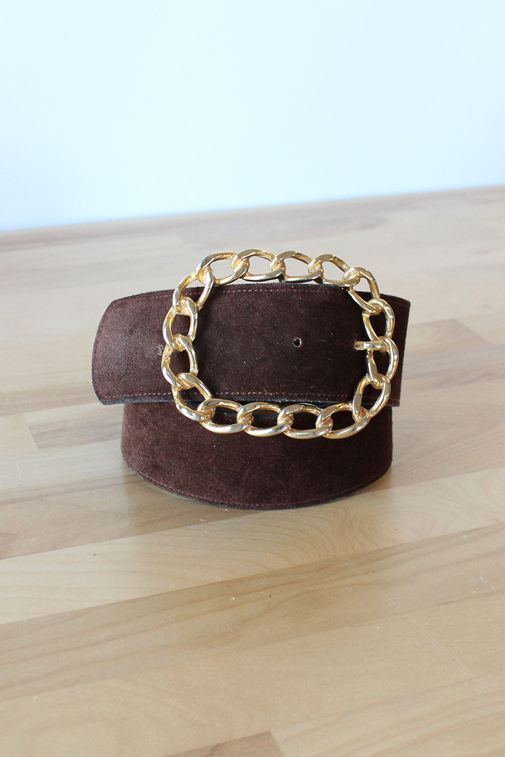 Chunky Gold Chain Buckle Belt