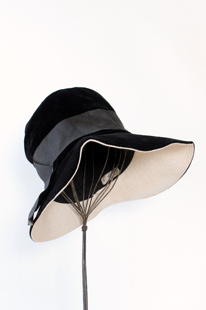 Black Velvet Wide Brim Hat