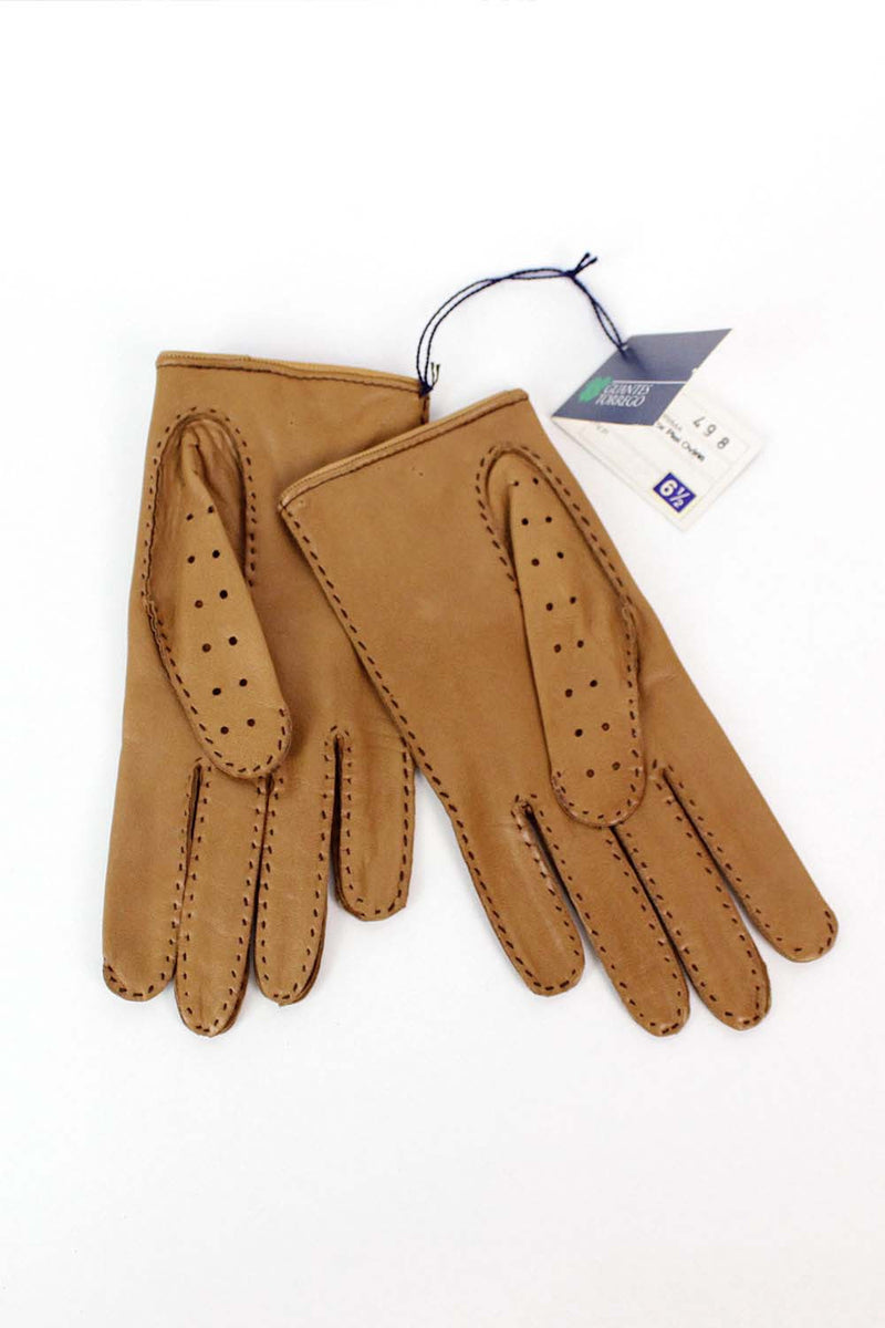 Spanish Leather Driving Gloves