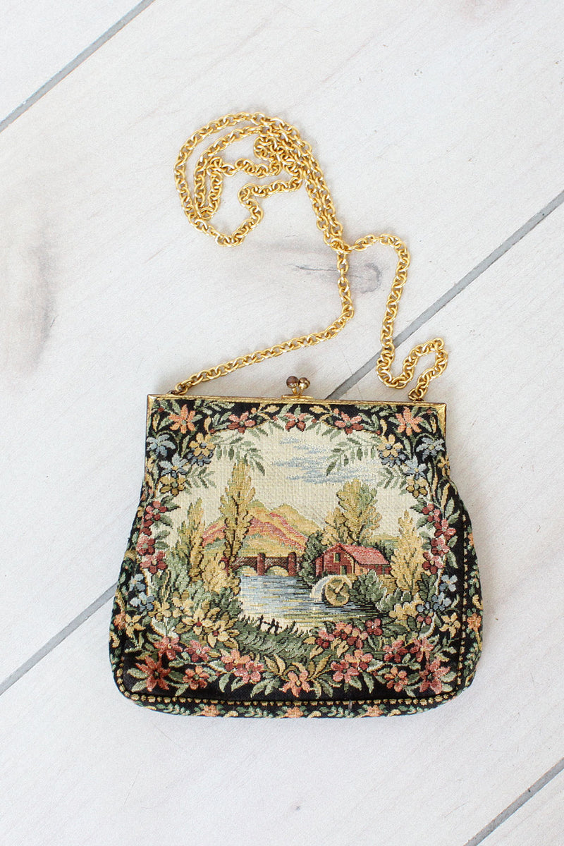 Petit Point Farmscape Purse