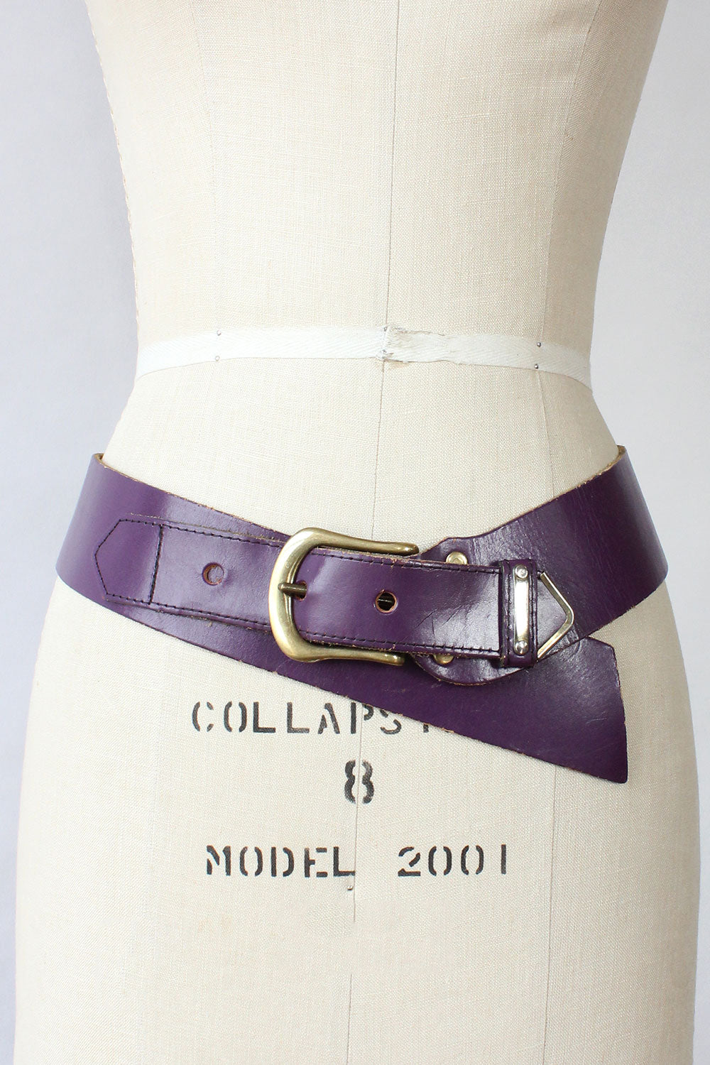 Wide Dip Leather Belt