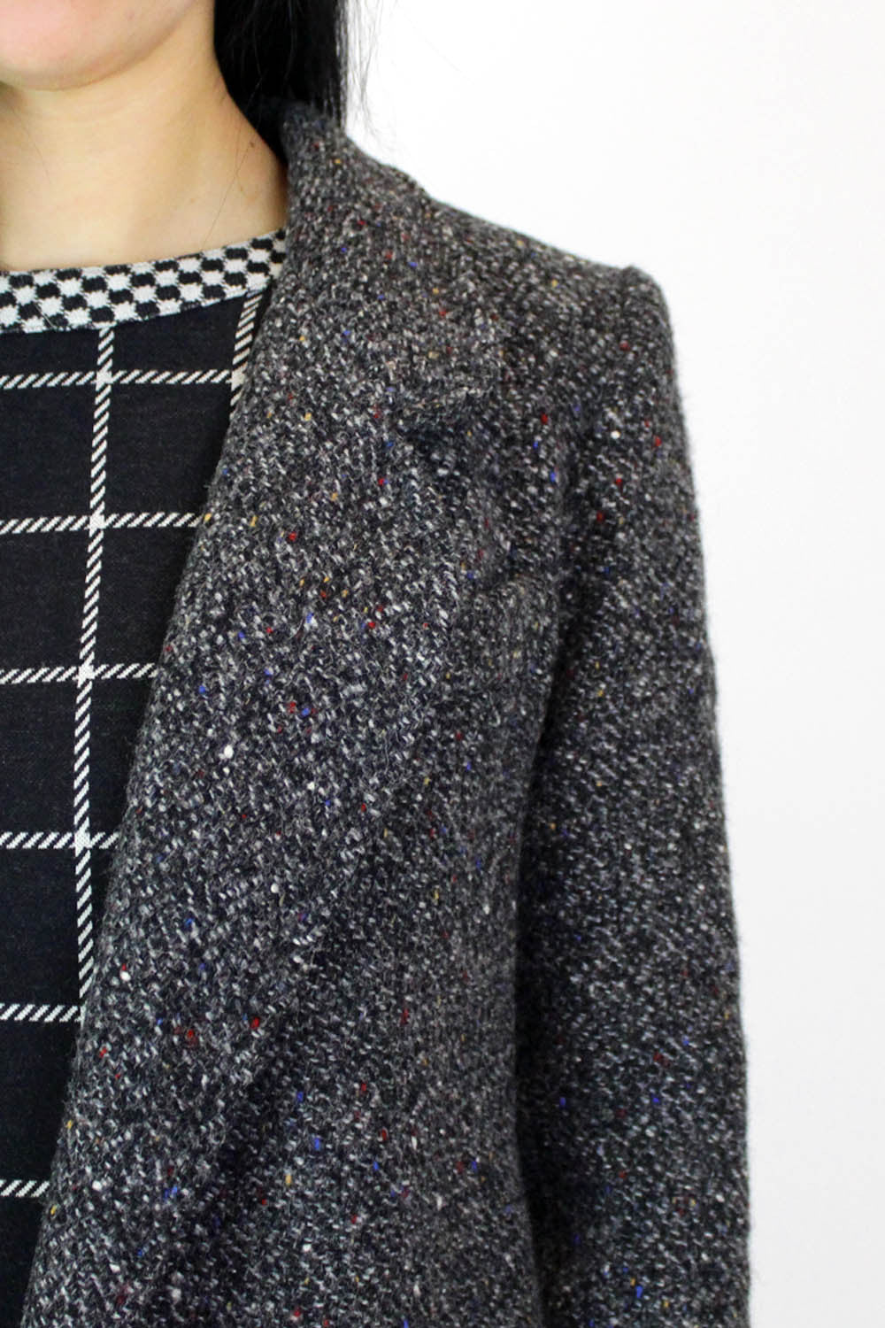 vintage wool coat detail
