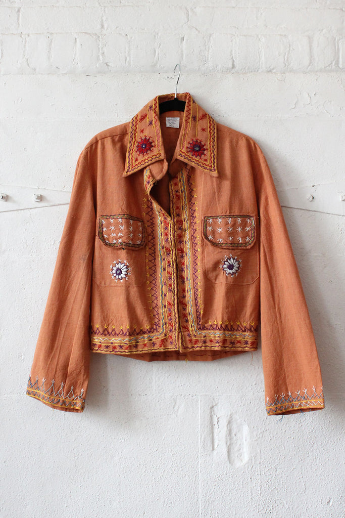 Saffron Embroidered Jacket S/M