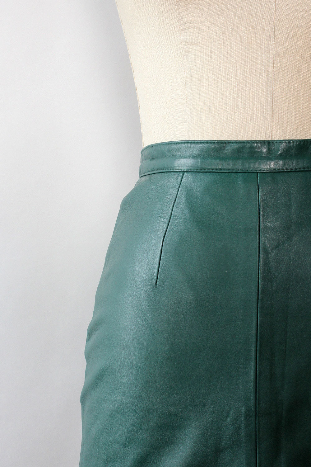 Ivy Leather Pencil Skirt S