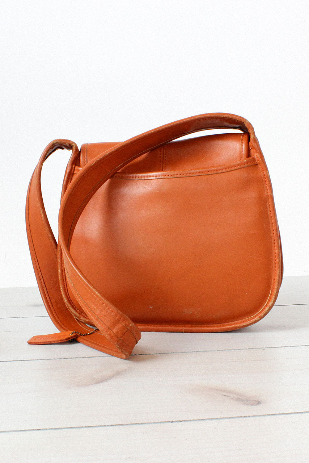 Tangerine Leather Coach Bag
