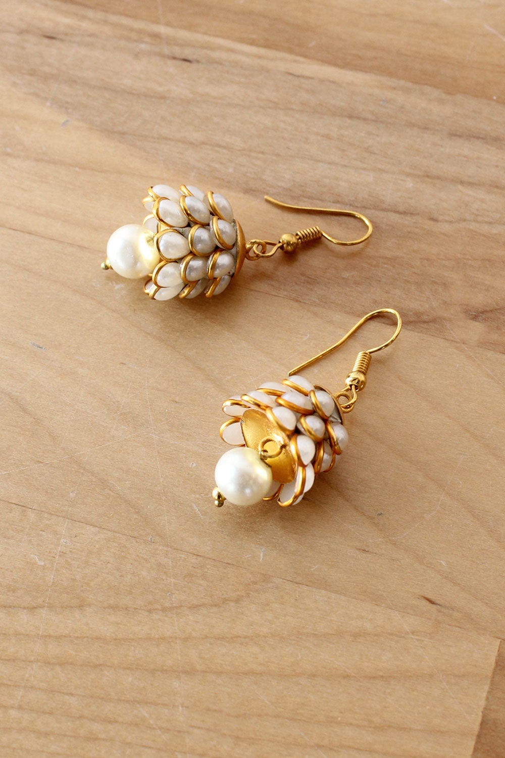 Pearly Bell Earrings