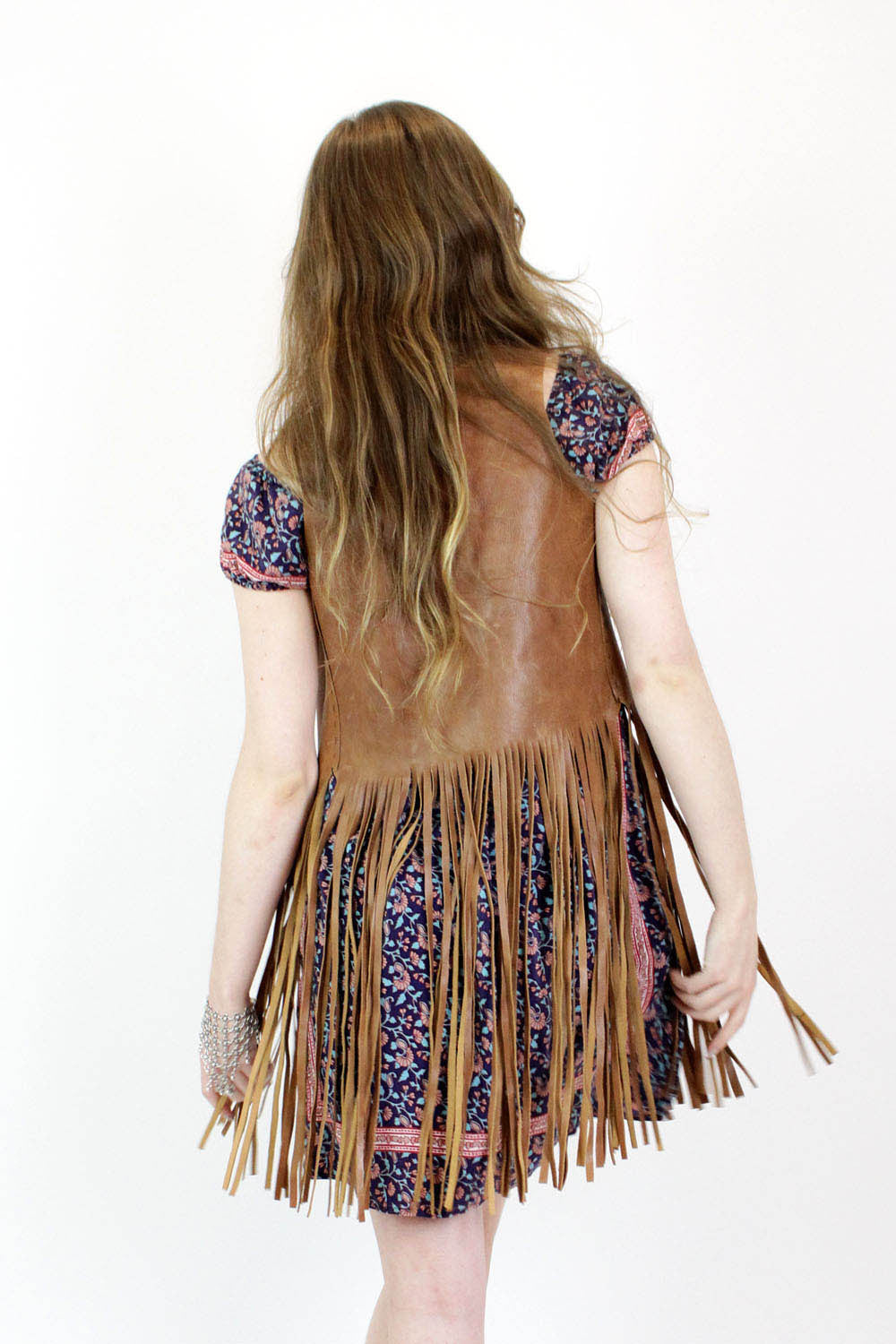 Leather Fringe Vest