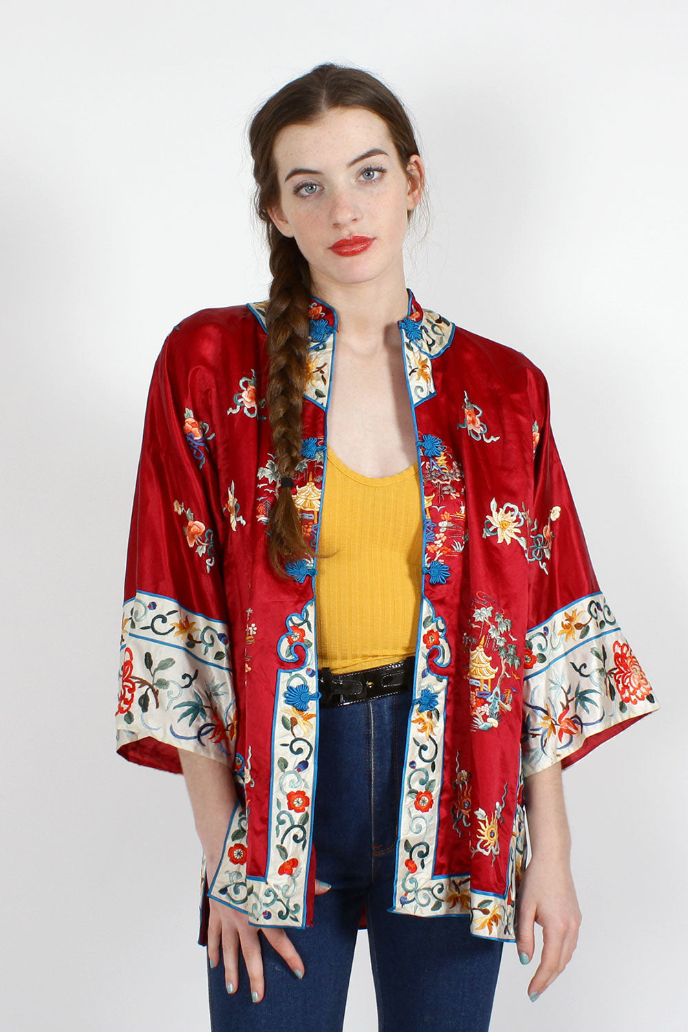 Chinese Silk Embroidered Jacket S/M