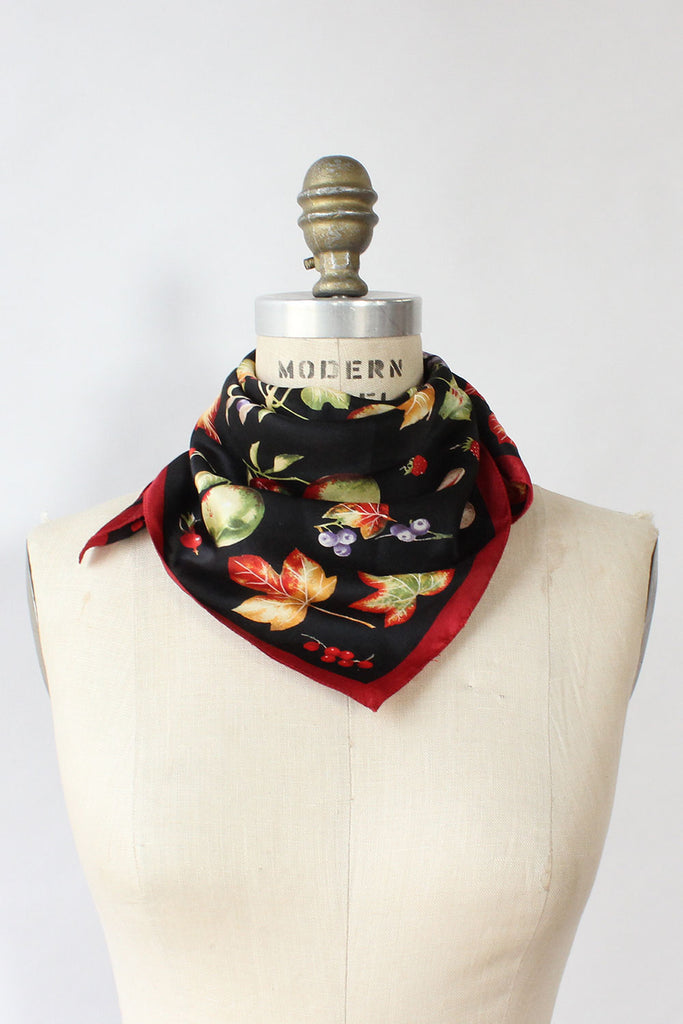 Fruit & Veggie Silk Scarf