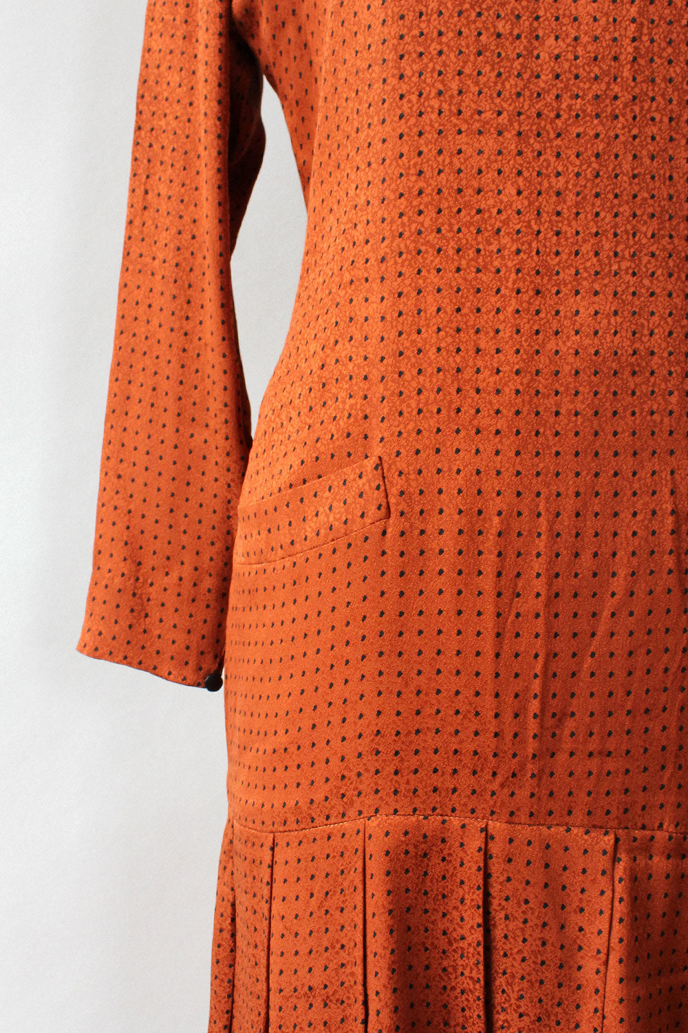 Christian Dior Silk Dotty Dress M