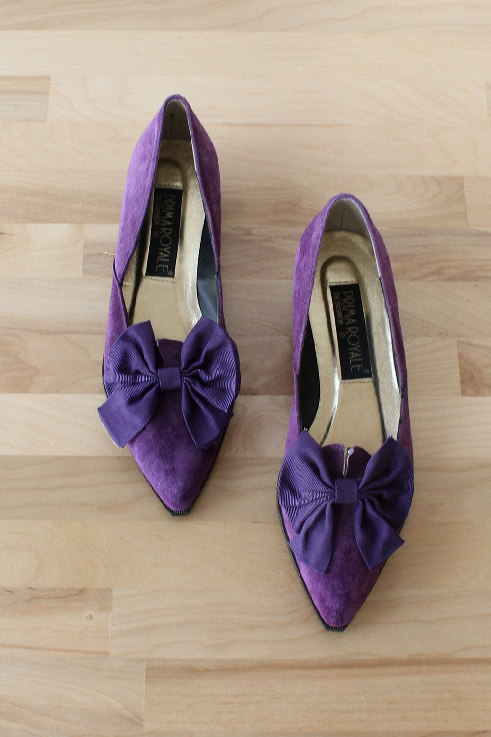 Royale Purple Bow Slippers 8