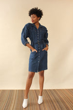 Blondie Denim Snap Dress M