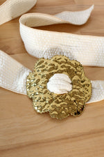 Flower Brass Power Belt